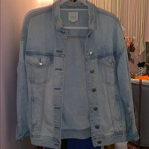American Eagle oversized jean jacket